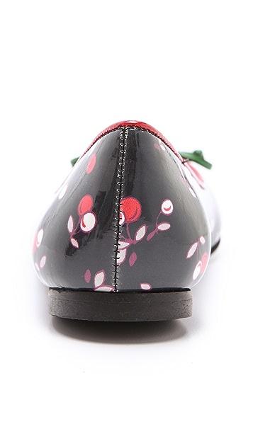 RED Valentino Cherry Print Ballerina Flats
