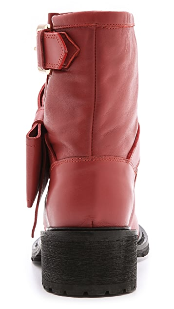 RED Valentino Bow Low Heel Booties
