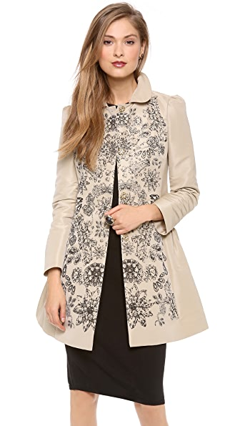 RED Valentino Ruched Overcoat