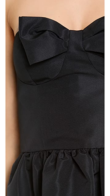RED Valentino Strapless Bow Mini Dress
