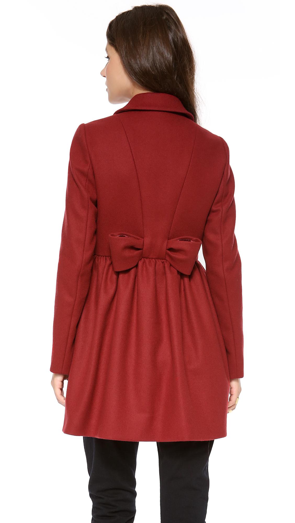 51471ec920b4 RED Valentino Bow Back Coat   SHOPBOP