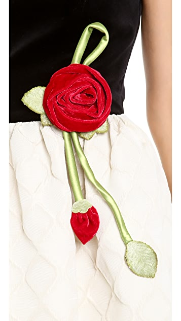 RED Valentino Strapless Rose Dress
