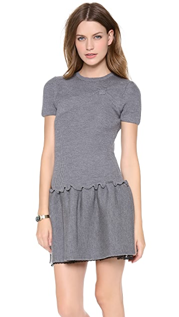 RED Valentino Bow Sweater Dress