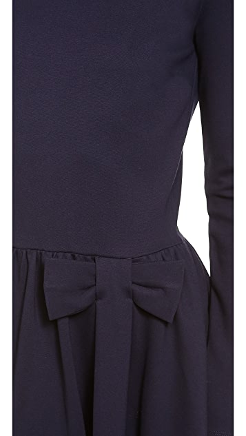 RED Valentino Long Sleeve Bow Dress