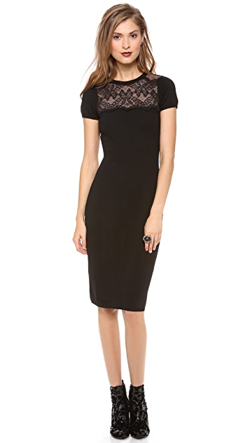 RED Valentino Lace Top Pencil Dress