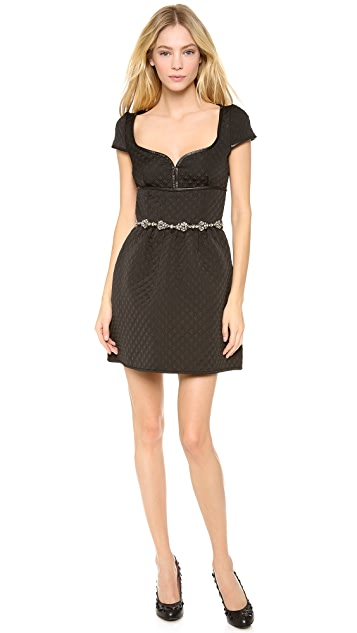 RED Valentino Padded Short Sleeve Dress