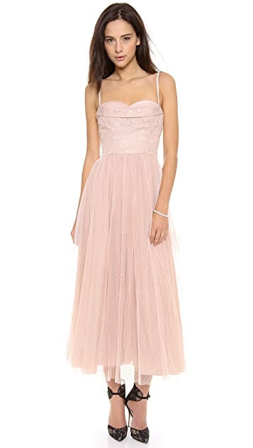 RED Valentino Lace Bustier Gown