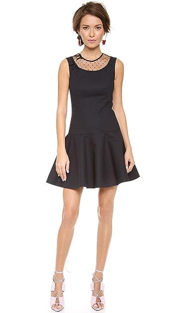 RED Valentino Point d'Espirit Sleeveless Dress