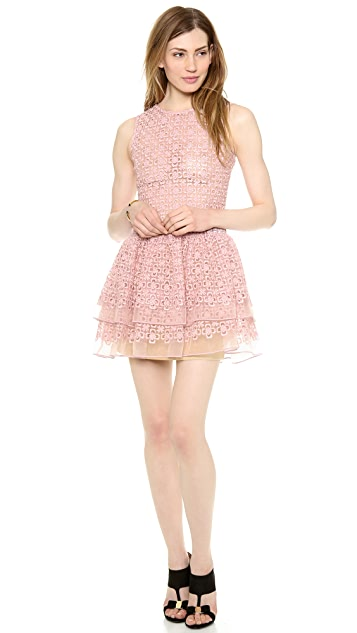 RED Valentino Full Flowers Sleeveless Dress
