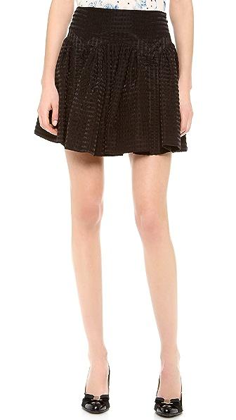 RED Valentino Seersucker Skirt