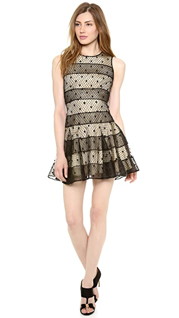 RED Valentino Polka Dot Embroidery Dress