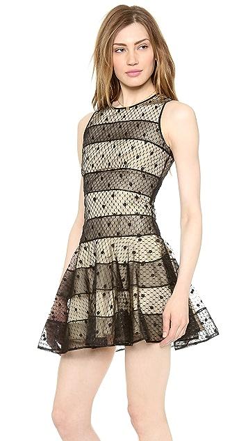 RED Valentino Polka Dot Embroidery Dress