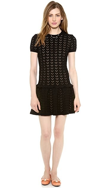 RED Valentino Short Sleeve Knit Dress