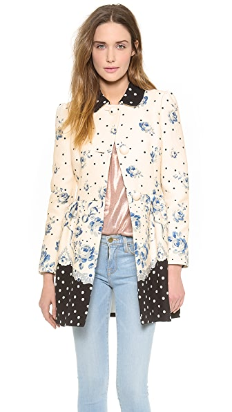 RED Valentino Roses & Polka Dot Coat