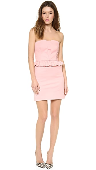 RED Valentino Strapless Peplum Dress