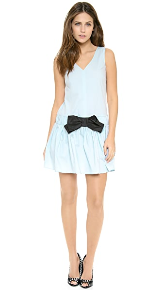 RED Valentino Drop Waist Bow Dress