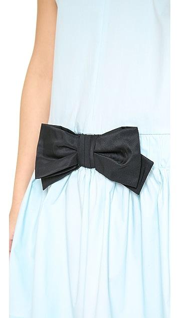 RED Valentino Drop Waist Bow Dress