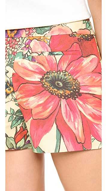 RED Valentino Macro Flower Print Shorts