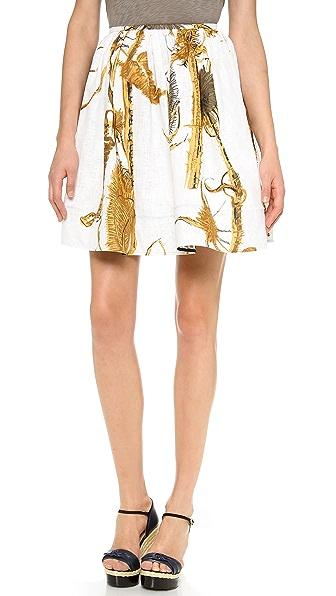RED Valentino Thistle Print Skirt
