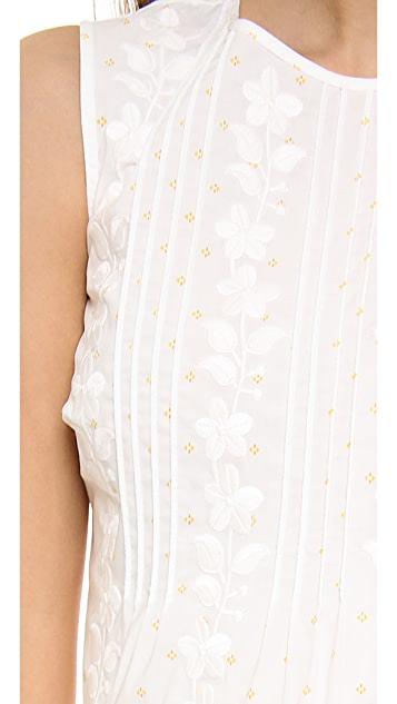 RED Valentino Flower Embroidered Dress