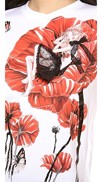 RED Valentino Wild Flower Print Tee