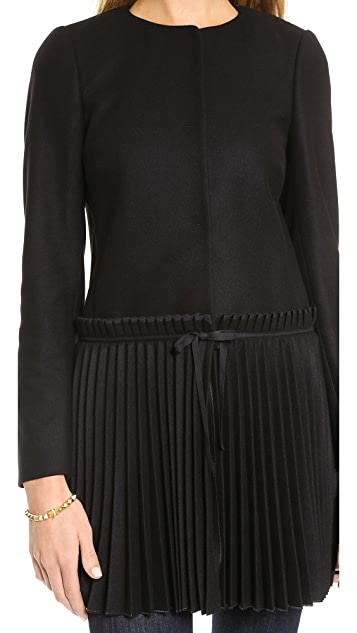 RED Valentino Wool Pleated Coat