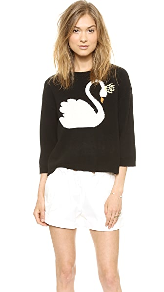 RED Valentino Swan Sweater