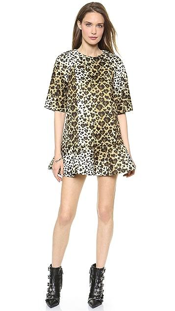 RED Valentino Leopard Print Scuba Dress