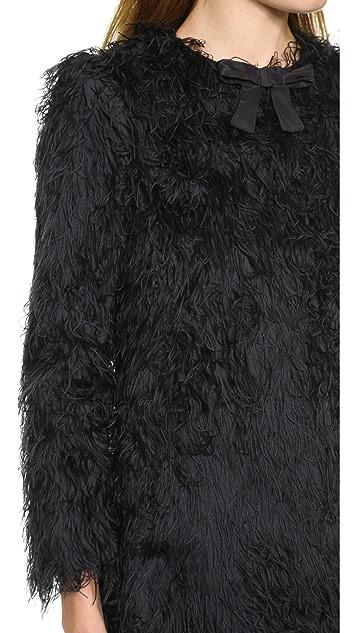 RED Valentino Fuzzy Coat