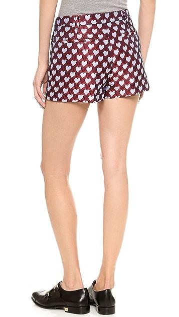 RED Valentino Jacquard Hearts Shorts