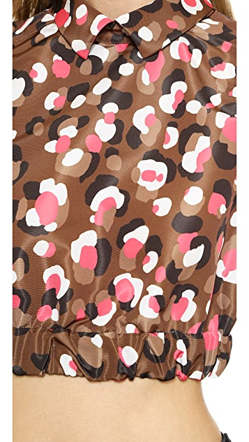 RED Valentino Pop Leopard Print Crop Top