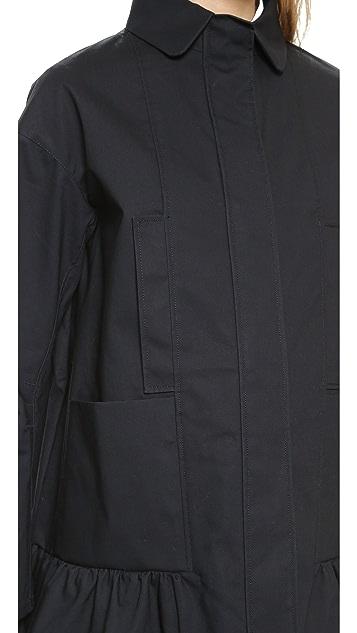 RED Valentino Ruffle Bottom Coat
