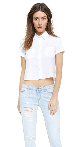 RED Valentino Poplin Cropped Blouse