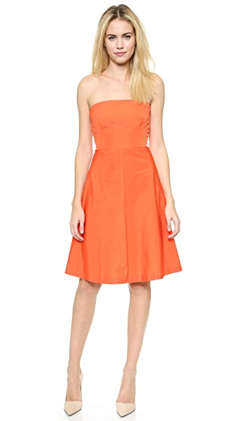 RED Valentino Strapless Taffeta Dress