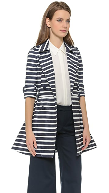 RED Valentino Striped Trench Coat