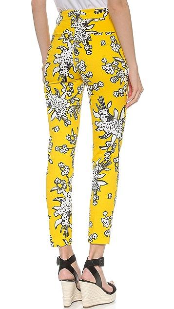 RED Valentino Bouquet Print Crop Pants