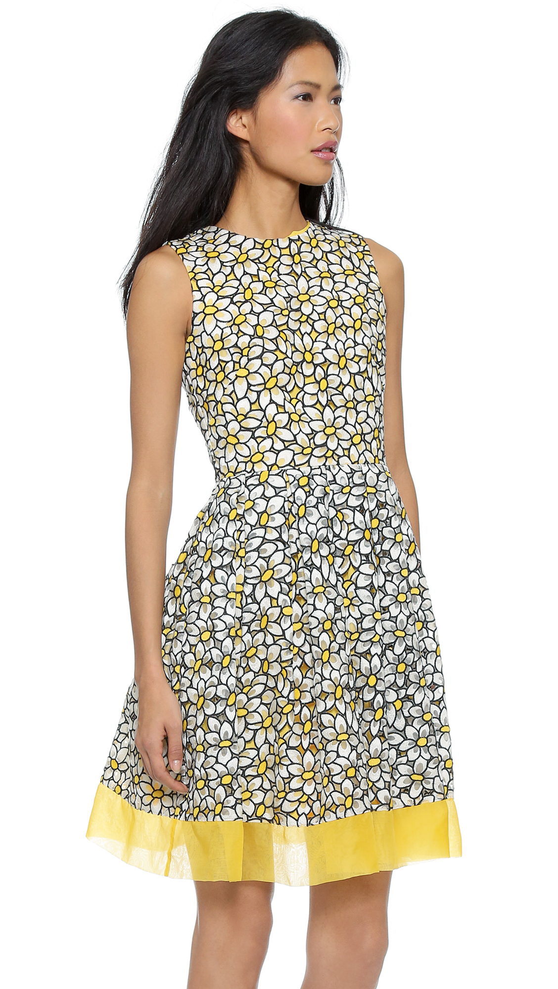 9b0ea926d RED Valentino Cutout Daisy Embroidered Dress | SHOPBOP