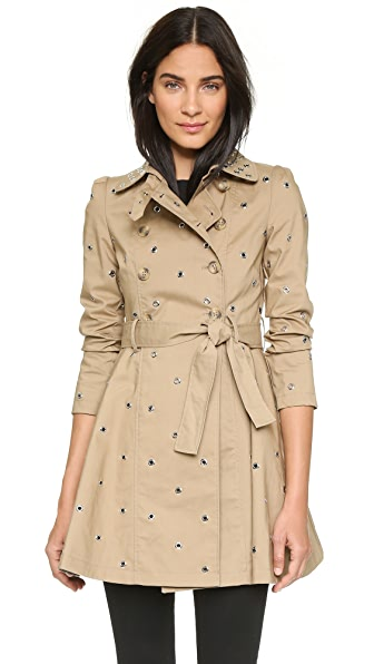 RED Valentino Embellished Trench Coat