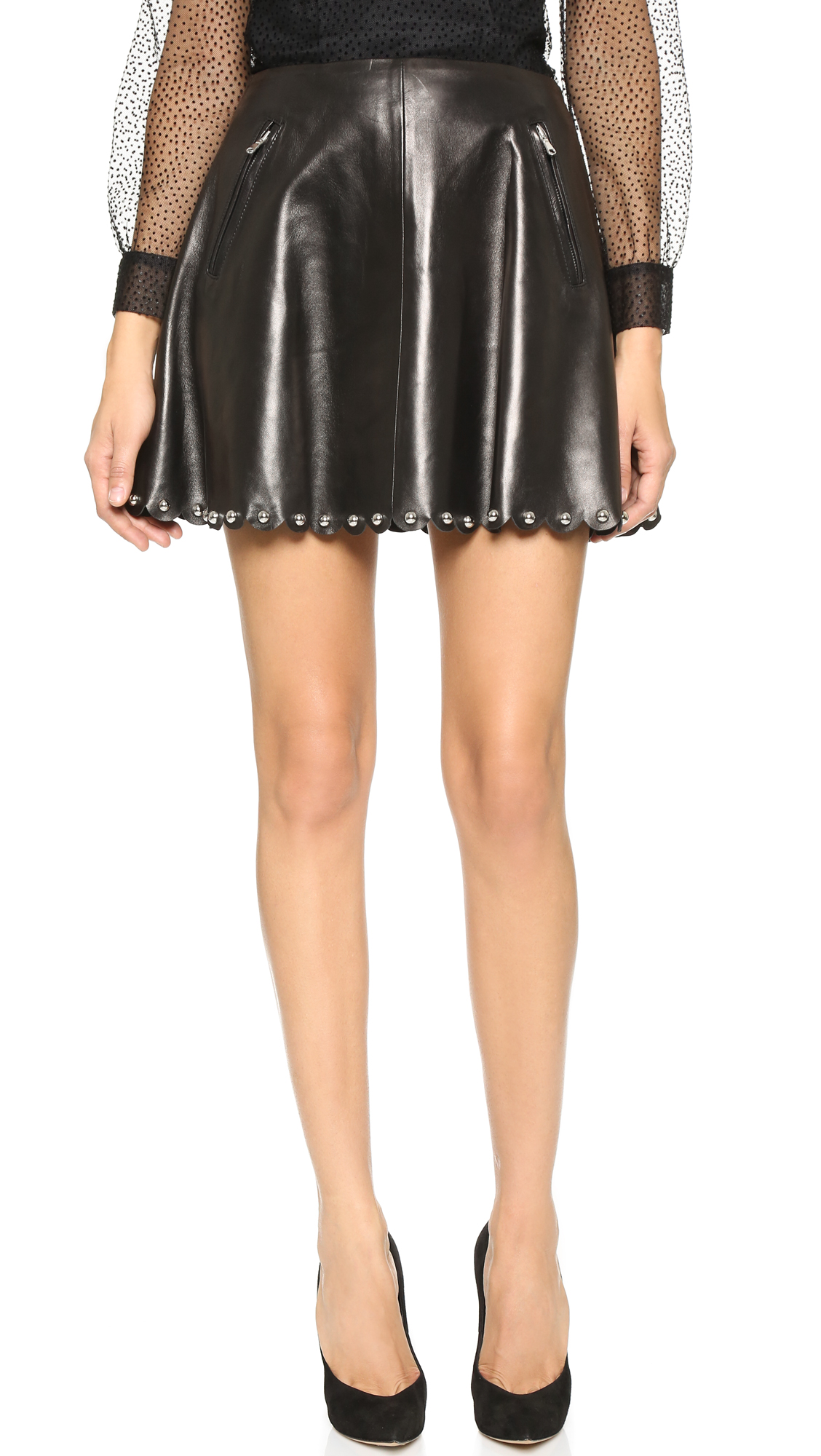 fb4185e180 RED Valentino Leather Skirt | SHOPBOP