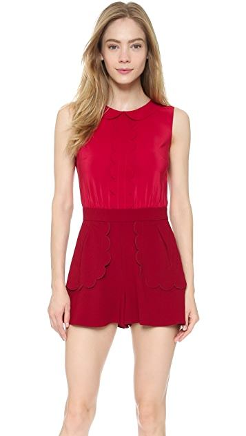 RED Valentino Collared Romper
