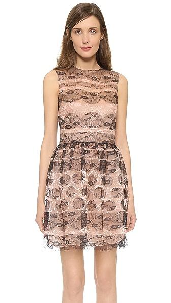 RED Valentino Lace Sleeveless Mini Dress