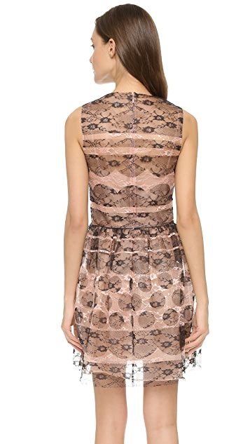 RED Valentino Lace Sleeveless Mini Dress