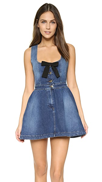 Red Valentino Denim Bow Dress - Denim