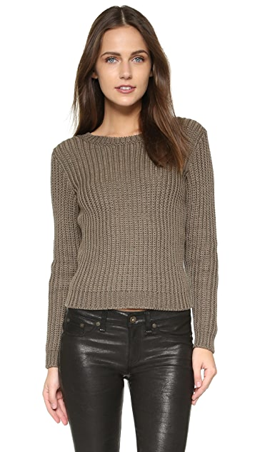 RED Valentino Bow Cropped Sweater