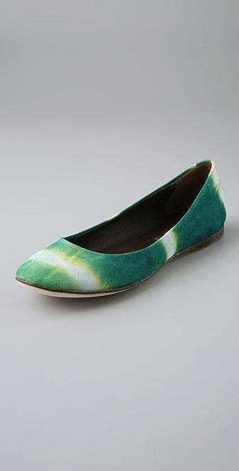 Reed Evins Tie Dye Ballet Flats