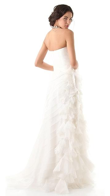 Reem Acra Simple Beauty Strapless Dress