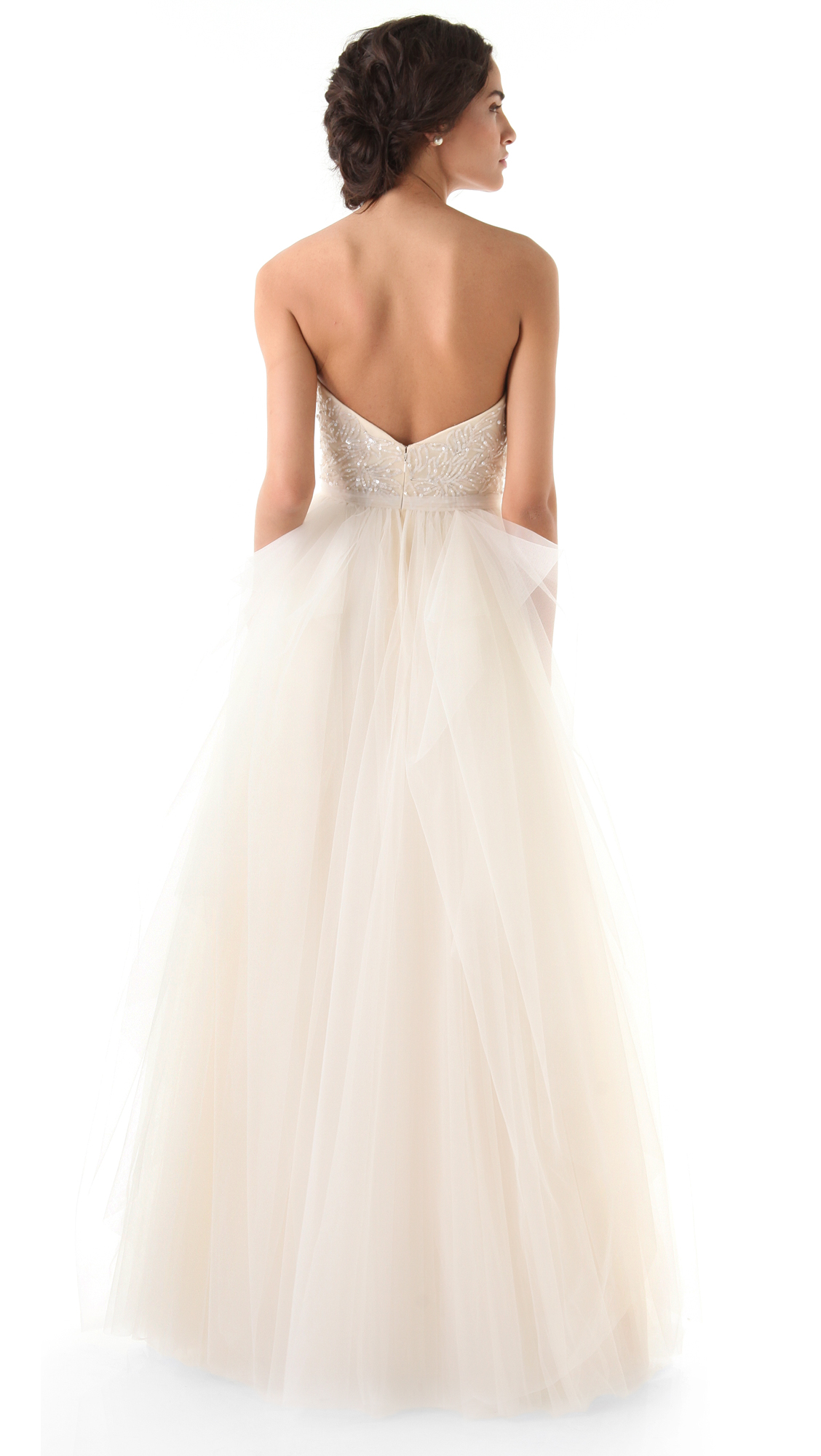98828f93c3 Reem Acra Eternity Strapless Dress