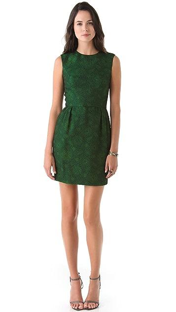 Reem Acra Sleeveless Brocade Dress