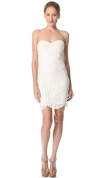 Reem Acra Lace Me Up Mini Dress