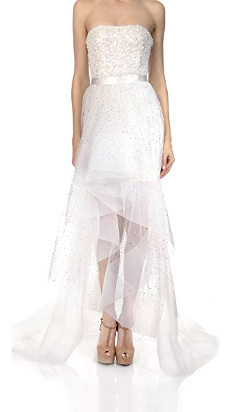 Reem Acra Glamour Drizzle Skirt